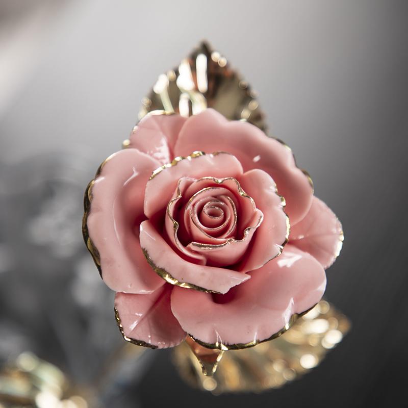 母亲节礼物送妈妈实用女友520情人节生日陶瓷花护士开业活动礼品