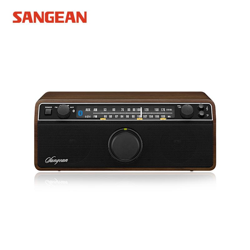 SANGEAN-山进 WR-12BT 殿堂级蓝牙音箱复古收音机家用音响低音炮