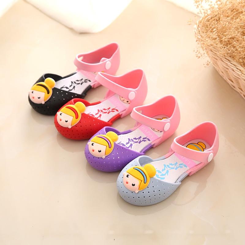 春夏款儿童凉鞋女童公主鞋宝宝果冻鞋沙滩鞋小童包头防滑软底防水