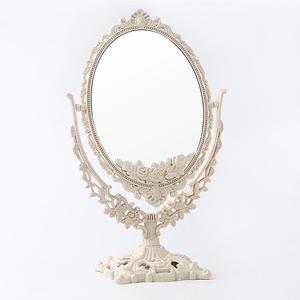化妆镜台式镜子桌面梳妆镜家用卧室女大号美妆双面北欧欧式公主镜