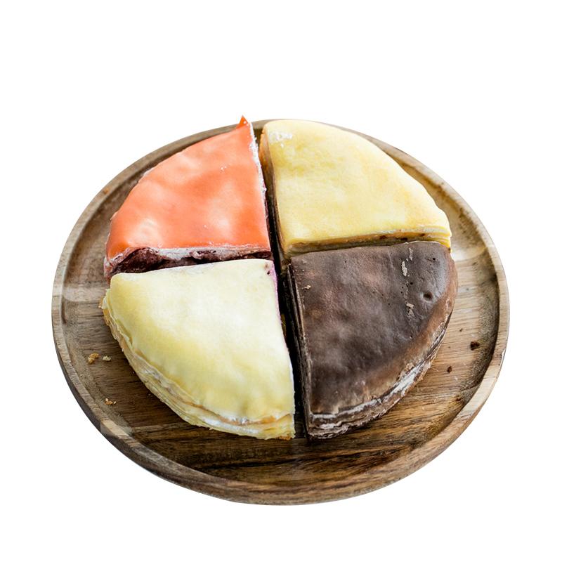 巧师傅新款四种口味一种的千层巧克力蓝莓芒果双拼草莓生日蛋糕