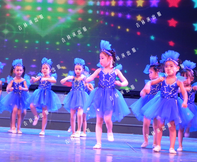 Children's Princess sequined Pengpeng dress performance dress kindergarten star sequined Dance Dress performance dress