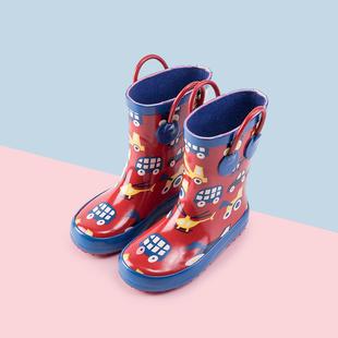 儿童雨鞋男童女童公主可爱加绒防滑小孩雨靴小童胶鞋水靴宝宝水鞋