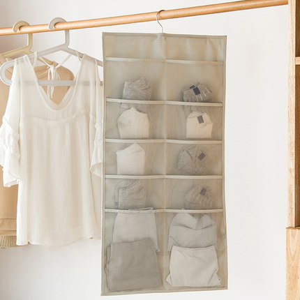 Cabinet Storage Wardrobe underwear socks bag wall bedroom wardrobe hanging storage fabric