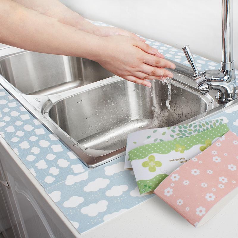 洗手台自粘水槽防水贴厨房洗菜盆吸湿贴马桶贴浴室洗漱台防水贴纸