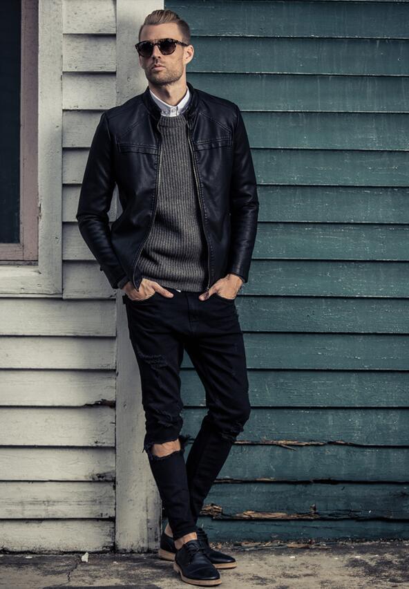 潮流皮衣,完美演绎硬汉风格