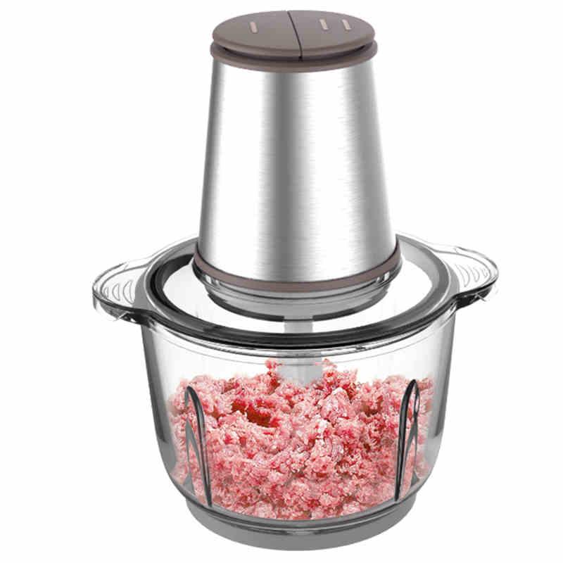 美的绞肉机家用电动不锈钢多功能小型打肉馅碎菜搅拌蒜泥蓉料理机