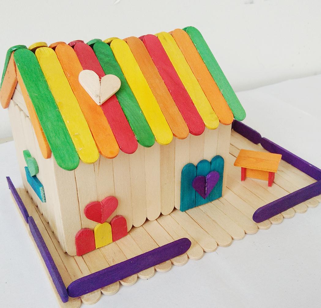 包邮雪糕棒冰棍棒diy手工制作材料房子模型材料木条木棒木棍