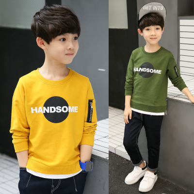14 Spring 8 Boy Long Sleeve T桖 9 Children's Wear 5 Boy 6 Clothes 7 Bottoming shirt 12 Years 10 Spring Autumn section 13