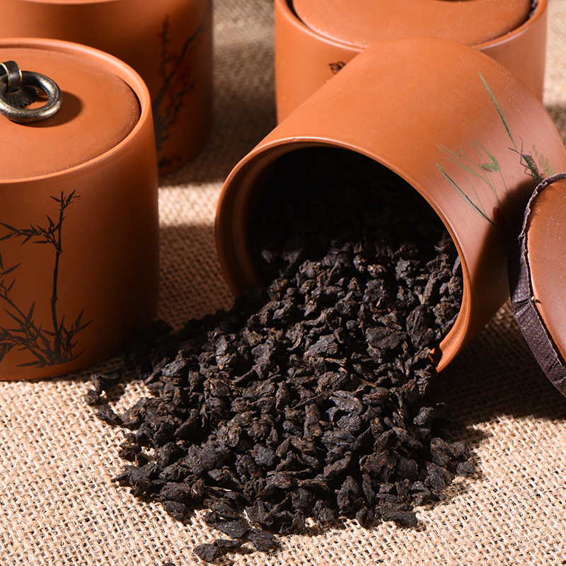 碎银子茶化石糯香老茶头普洱茶熟茶散茶勐海古树罐装臻品高端茶