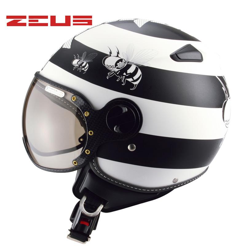 台湾瑞狮秋冬摩托车头盔电动车安全帽男女士四季时尚复古半盔210c