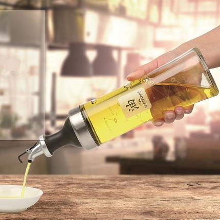 油壶防漏油大号酱油瓶醋瓶油瓶套装玻璃装油瓶厨房醋壶调味瓶家用