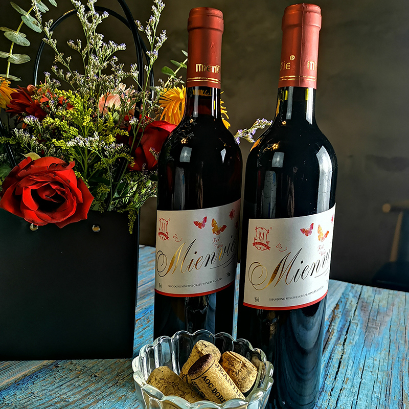 铭威正品甜红葡萄酒甜型红酒双支装国产红酒两瓶甜酒露酒2瓶装