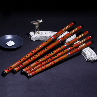 灵声乐器董雪华8881笛子套笛专业苦竹笛5支7支装CDEFG调送铝盒