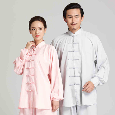 Tai Chi clothing female cotton and linen men's performance clothing morning practice training clothes martial arts Tai Chi clothing