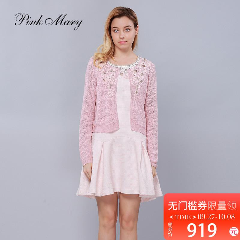 Pink Mary-粉红玛琍淑女修身针织外套开衫商场同款女装PMAFS8376