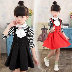 新款时尚韩版小女孩裙子两件套