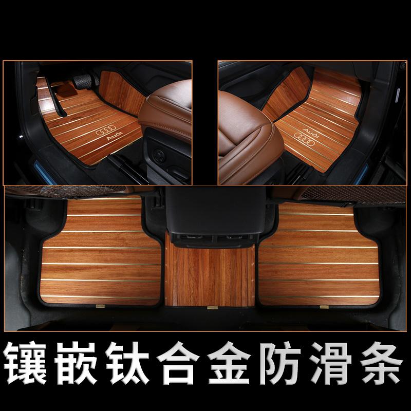 2018款奔驰新S320L S450 G500 GLS400专用汽车柚木地板实木脚垫改