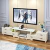 欧式电视柜茶几组合小户型客厅钢化玻璃伸缩现代简约电视机柜地柜