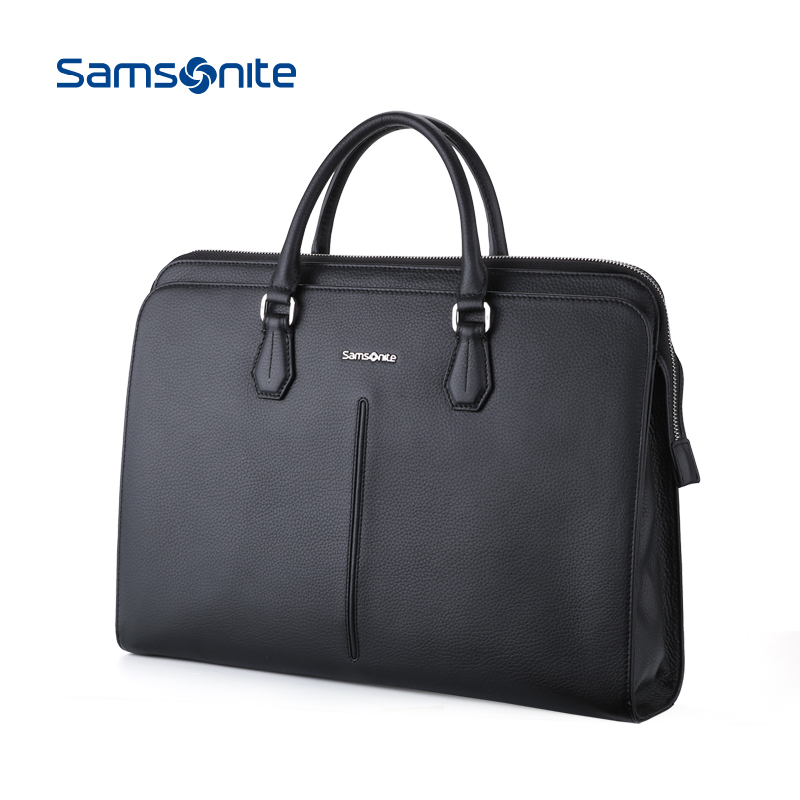 Samsonite-新秀丽公文包男士文件包手提包商务包男包横款皮包68B