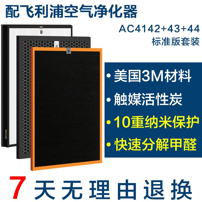 配飞利浦空气净化器过滤网AC4074 4072滤芯4142+4143+4144标准