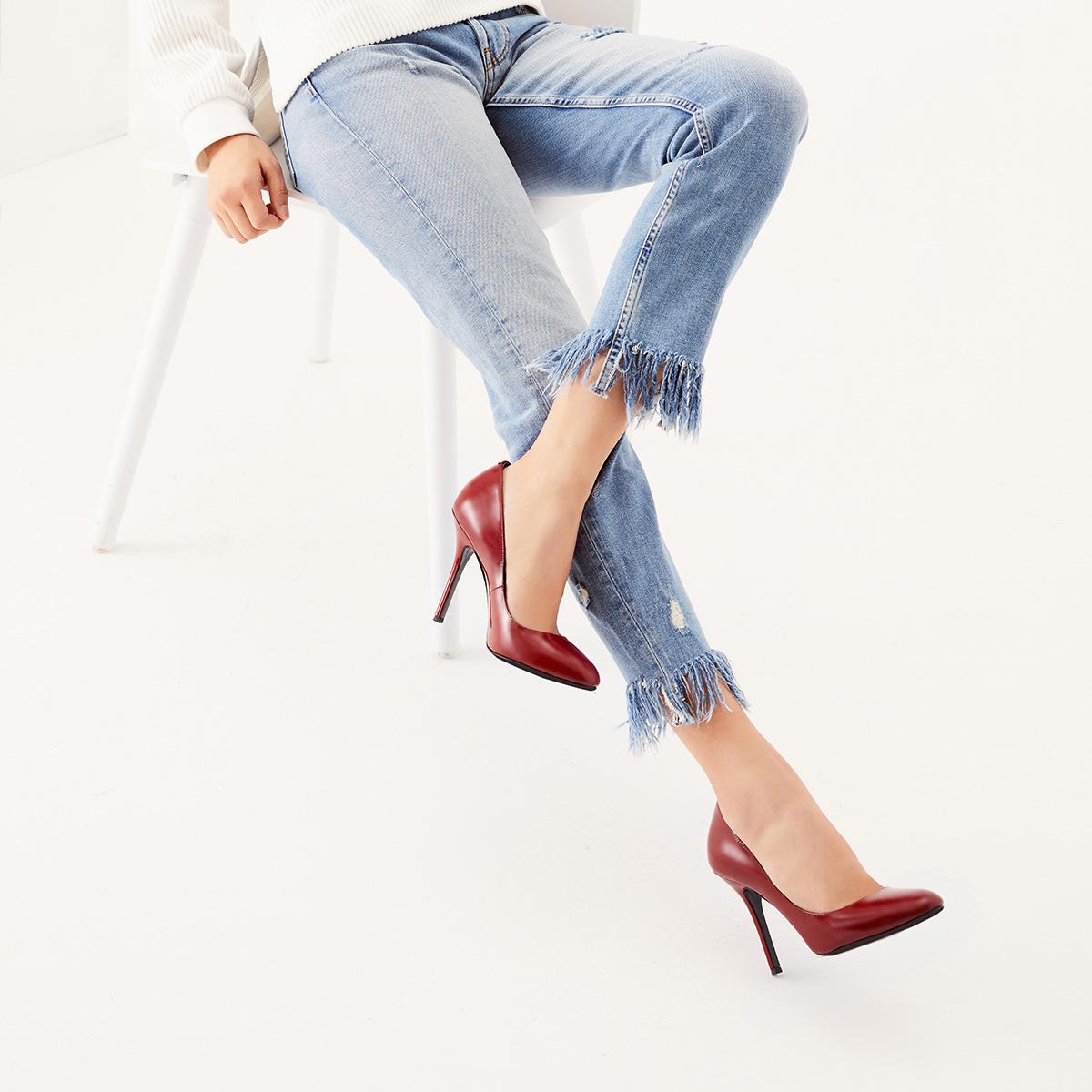 STELLA LUNA尖头浅口细跟女鞋套脚超高跟单鞋SF333L01504-
