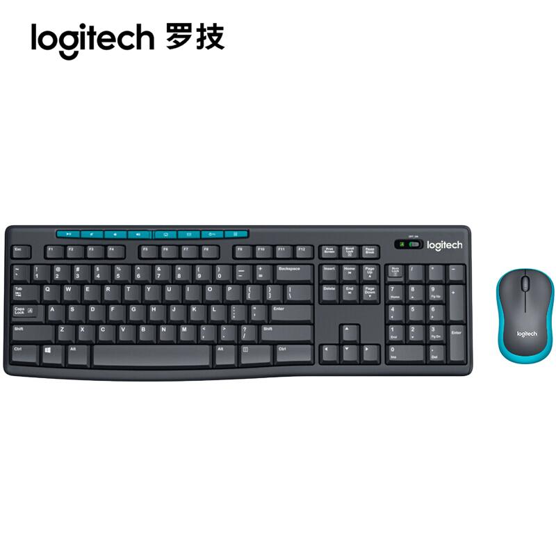 罗技MK275 无线键鼠套装 笔记本台式电脑办公游戏键盘鼠标套件
