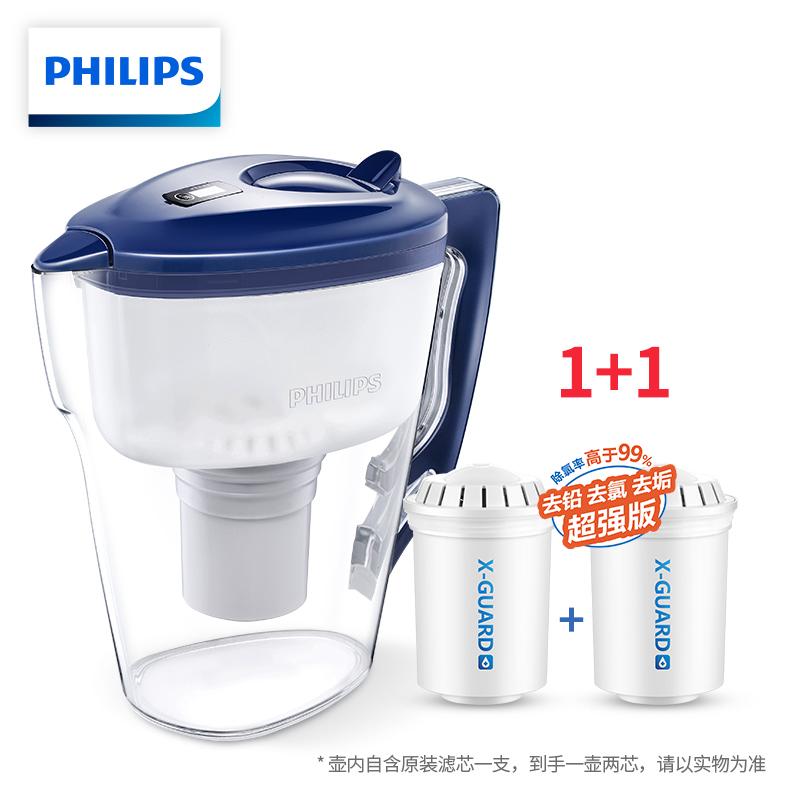 Philips 飞利浦 WP2807 便携式净水壶 3L 一壶二芯 天猫优惠券折后¥99包邮(¥129-30)