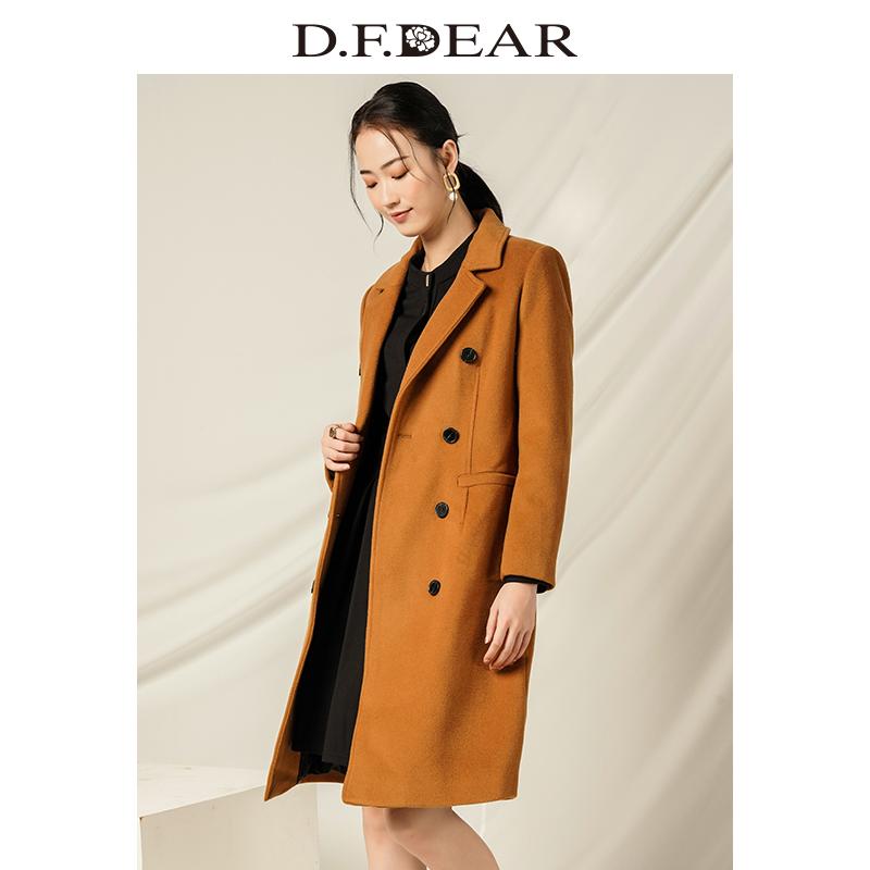 D.F.DEAR 德菲蒂奥 简约双排扣 女式羊毛呢大衣 天猫优惠券折后¥178包邮(¥278-100)