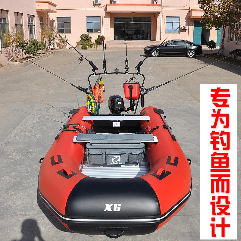 信光CANDO-肯都充气船橡皮艇加厚钓鱼船冲锋舟硬底路亚艇皮筏快艇