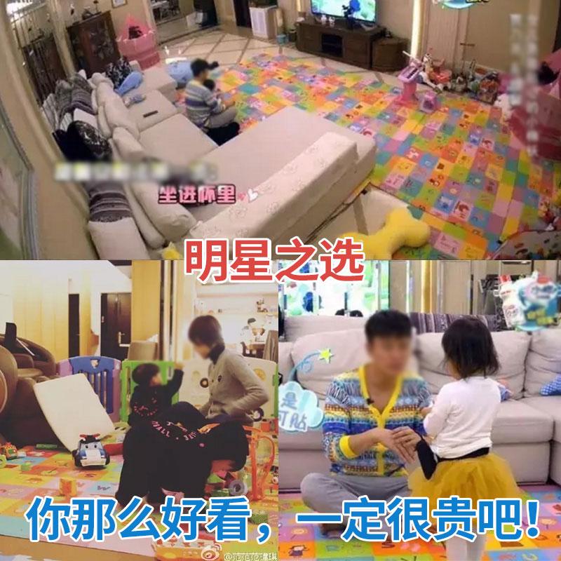 韩国原装进口 康乐PVC宝宝爬行垫 加厚双面折叠婴儿爬爬垫地垫