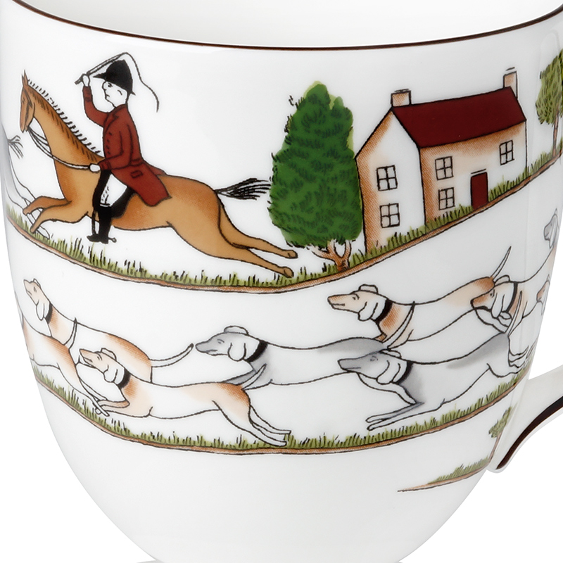 Wedgwood waterford Wedgwood Hunting Scene Hunting series high ipads China mugs + WMF run out