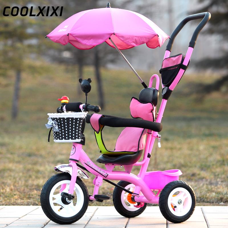 儿童三轮车脚踏车1-3-5岁手推车幼儿宝宝童车小孩婴儿自行车