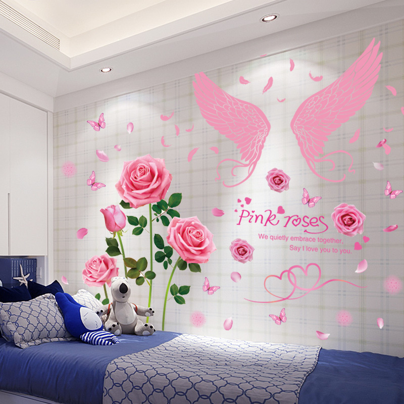 warm bedside background wall decoration wallpaper self-adhesive ...