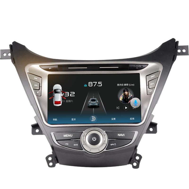 音之港现代朗动4G WIFI安卓导航一体机倒车影像中控原厂原装风格8