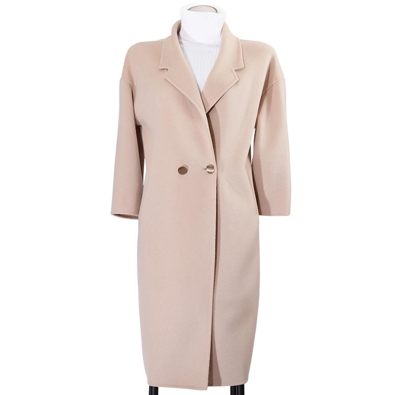 呢子大衣女中长款韩版2018新款学生秋冬双面森系毛呢宽松学生外套