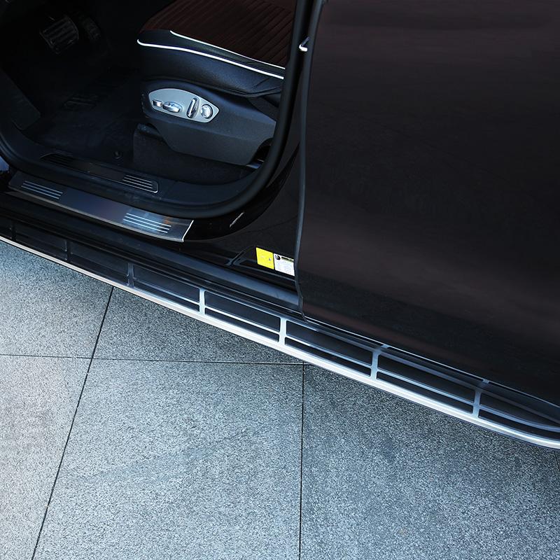 适用于11-18保时捷卡宴改装侧踏板macan改装侧踏板4S款电动脚踏板