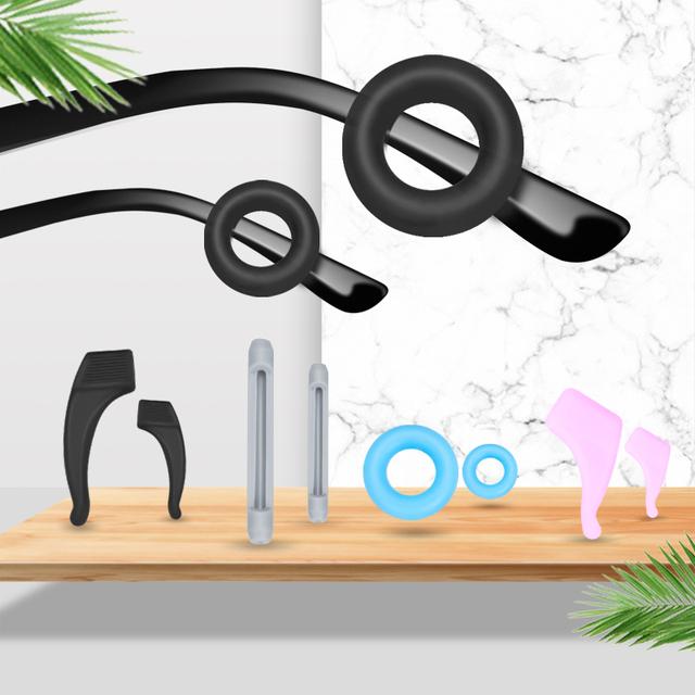 新款眼镜防滑套侧面托叶减压圆形硅胶固定耳勾托眼睛框架腿套配件