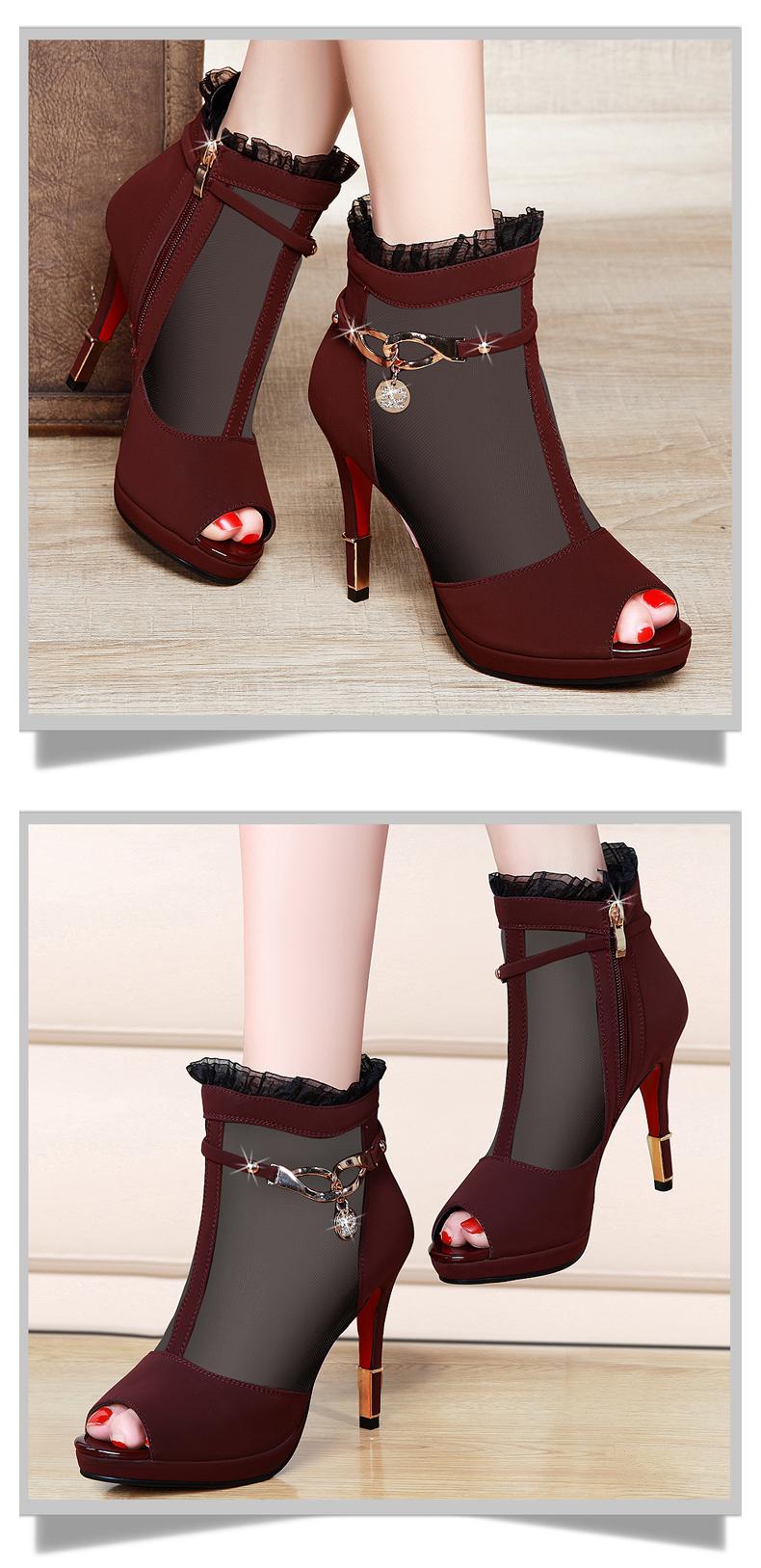 【邻家天使浪淘沙专卖店】单靴女高跟鞋细跟短靴2016.