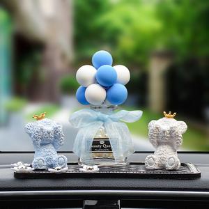 汽车摆件告白气球车内用品个性创意车载装饰品可爱车上汽车香水女
