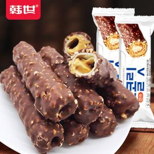 韩世X5层花生果仁夹心巧克力棒网红零食小吃休闲食品(代可可脂)