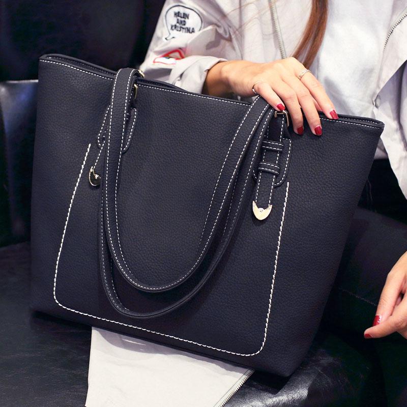 托特包女包2017冬季新款韩版手提包单肩女大包包大容量简约百搭潮