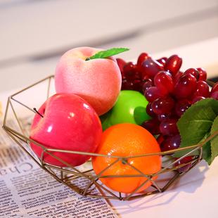 北欧风简约铁艺镂空多层客厅厨房家用沥水蔬菜干果零食水果篮收纳