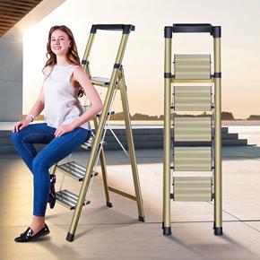 创步铝合金家用折叠梯子室内加厚人字梯多功能工程楼梯不伸缩梯