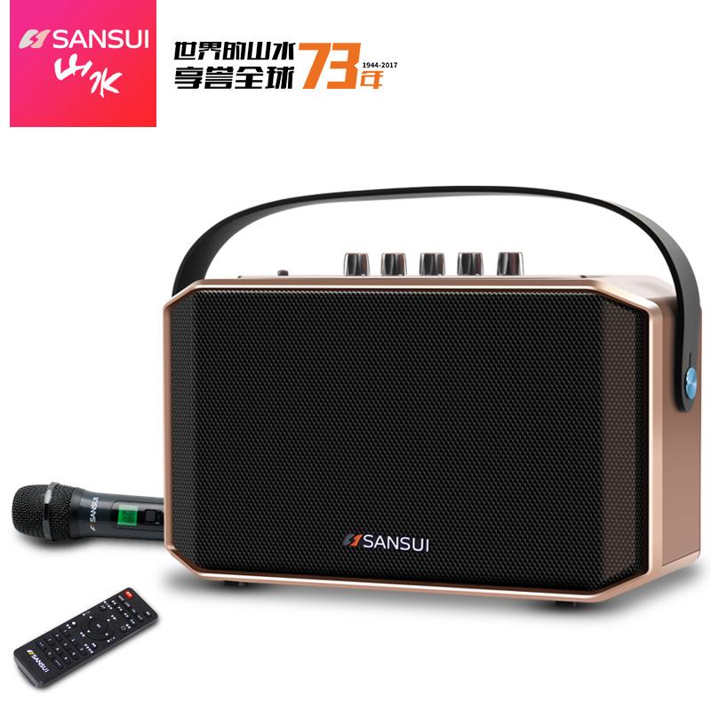 山水广场舞音箱便携式移动手提蓝牙K歌低音炮插卡播放器户外音响