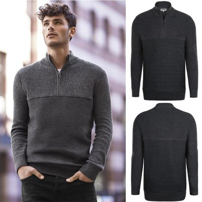 2018 autumn and winter new Korean version of the round neck half zipper men's sweater sweater sweater thickened leisure long-sleeved sweater
