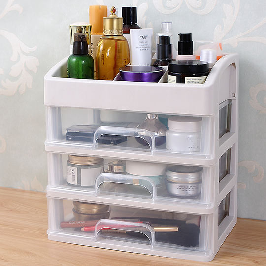 Drawer-style desktop storage box household dressing table storage box skin care products lipstick jewelry box plastic large