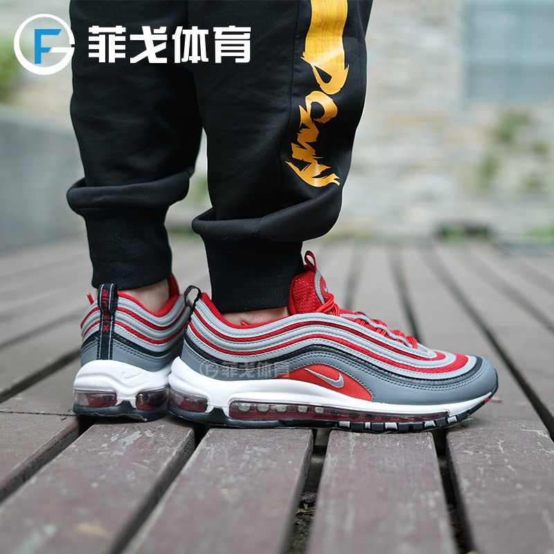 Nike AIR Max 97 gold and silver bullets OG cr7 c Luo Dahong pure black and
