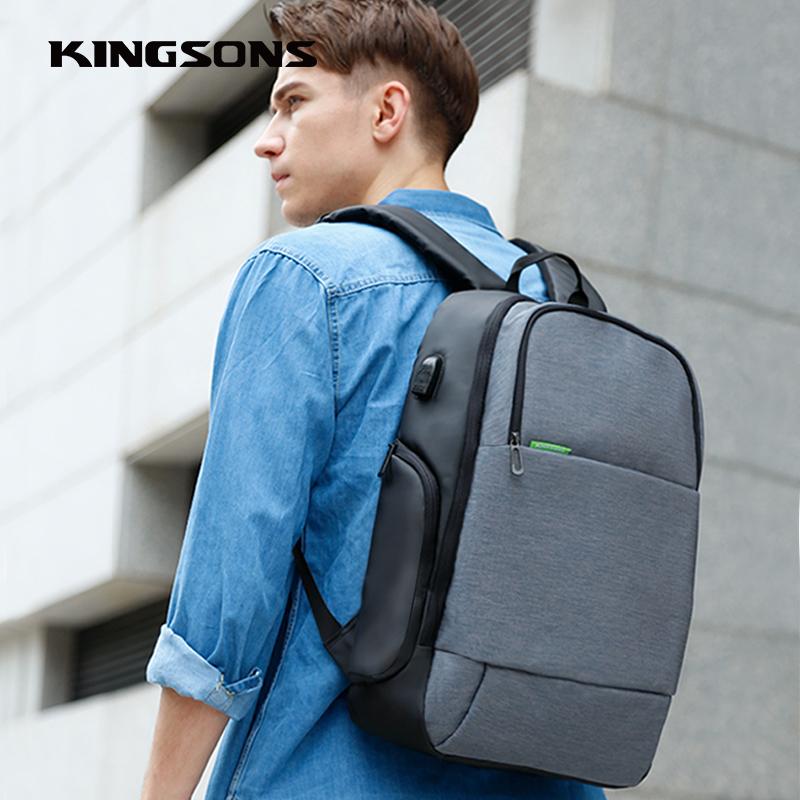 双肩电脑包15.6寸笔记本充电防盗背包男女大学生休闲户外旅游书包