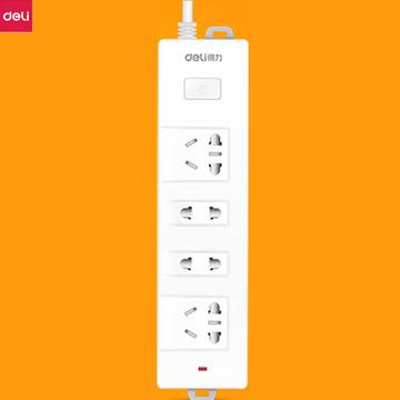 得力新国标插座长线电源插排接线板拖线板多功能排插插座家用插板